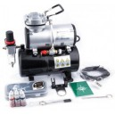 Airbrush set met AS-186 compr.BD-130 airbrush spuit en toebeh..
