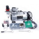AIRBRUSH  SET met Compressor ,Verfspuit en toebeh. AS-18-2K